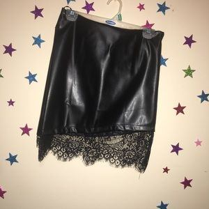 SHEIN Skirts - Leather skirt